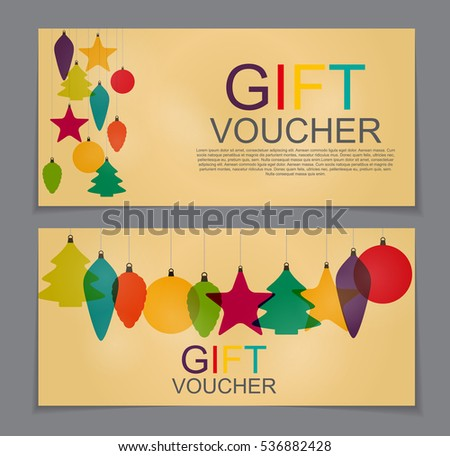 Christmas Gift Certificate Template Stock Images RoyaltyFree