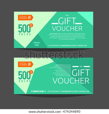 Gift Voucher Template. For gift certificate, coupon and Ticket. Vector illustration