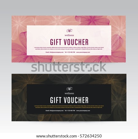 Gift voucher stock images royalty free images vectors gift voucher template for spa flower spring hotel resort vector illustration yadclub Images