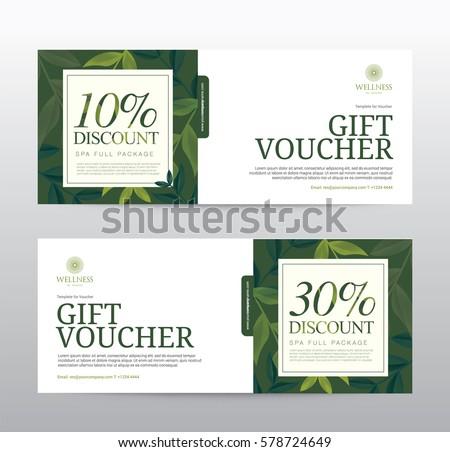 Gift Voucher Template Spa Hotel Resort Stock Photo Photo Vector