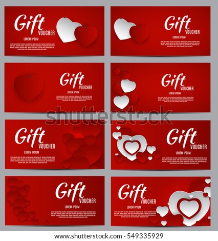 Gift voucher template your business valentines stock vector royalty gift voucher template for your business valentines day heart card love and feelings background design colourmoves