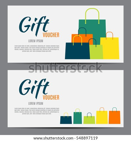 Gift Voucher Template For Your Business. Vector Illustration EPS10  Business Voucher Template