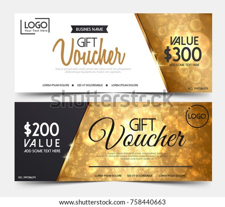 Gift voucher template certificate coupon design stock vector gift voucher template or certificate coupon design templatecollection gift certificate business card banner calling yadclub Gallery
