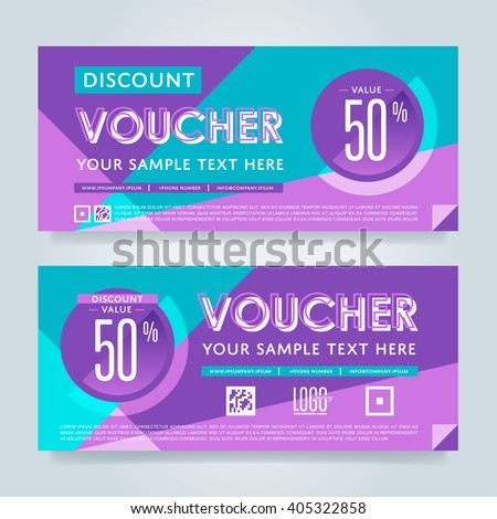 Gift Voucher Template Market Offer Advertising Stock Vector