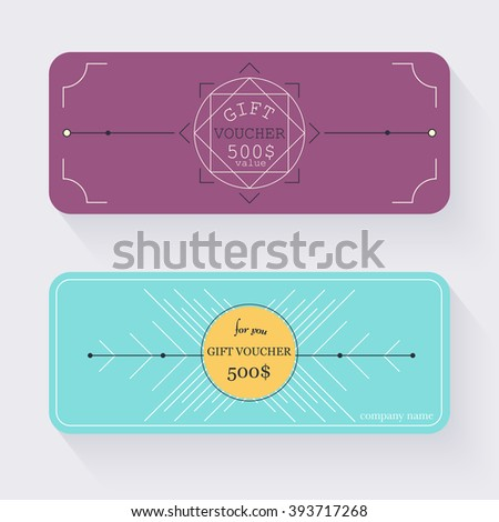 Gift Voucher Template Gold Background Background Stock Vector