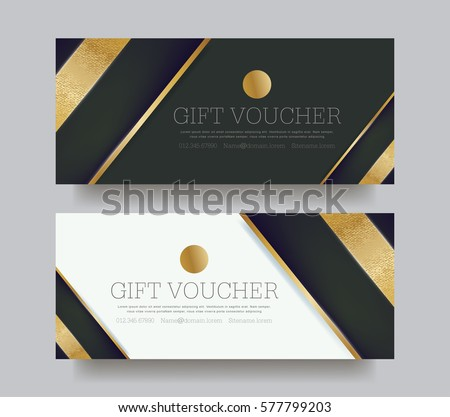 Gift Voucher Template Luxury Pattern Vector Illustration Stock ...