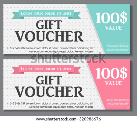 Gift Voucher Template Sample Text Vector Stock Photo (Photo, Vector ...
