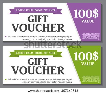 Gift Voucher Template Sample Text Vector Vector 320986676 – Sample Gift Vouchers