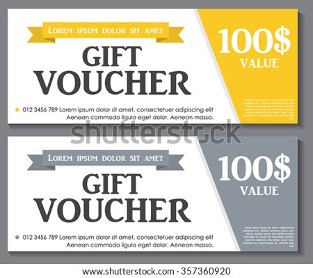 Gift Voucher Template Sample Text Vector Vector 321070889 – Voucher Sample