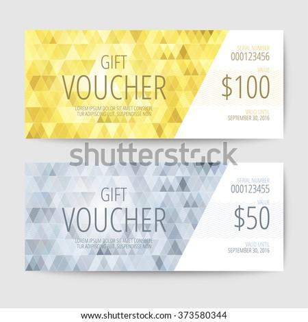 Gift Voucher Templates - stock vector