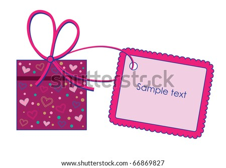 gift with label. vector illustration