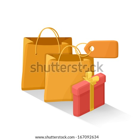 Gifts vector icon - stock vector