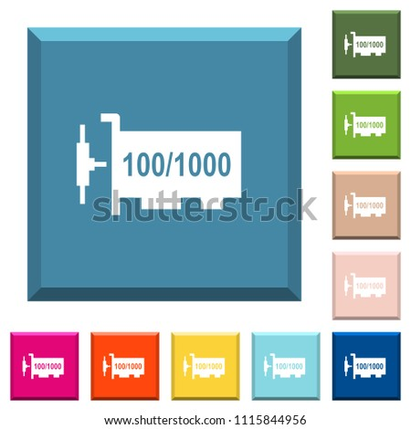 Gigabit Ethernet Network Controller White Icons Stock Vector ...