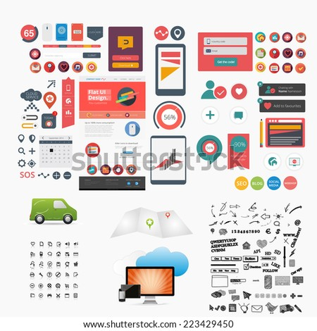 Gigant web graphic collection - stock vector