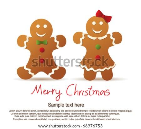 Gingerbread cookies - stock vector