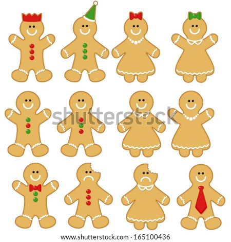 Gingerbread man clipart set gingerbread man stock vector 165100436 gingerbread man clip art set gingerbread man clip art gingerbread clip art voltagebd Image collections