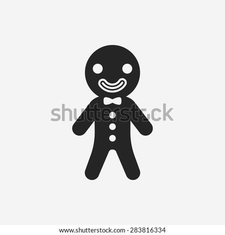 gingerbread man icon - stock vector