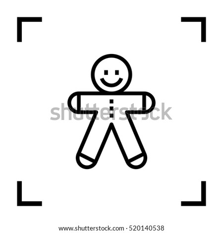 gingerbread Man isolated minimal icon. gingerbread graph line vector icon for websites and mobile minimalistic flat design.