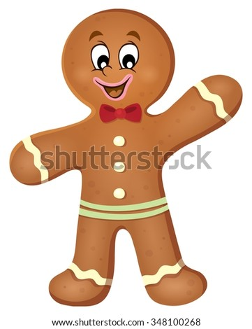 Gingerbread man theme image 1 - eps10 vector illustration. - stock vector
