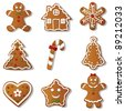 Gingerbread set - stock vector
