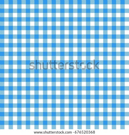 Blue Italian Tablecloth. Picnic Tale Cloth Vector.