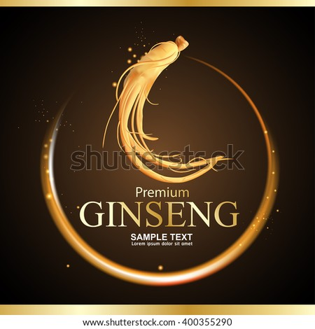 Ginseng Premium Vector