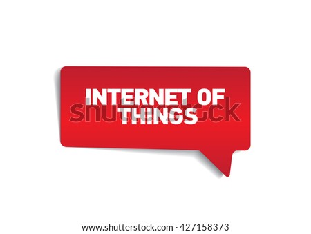 GINTERNET OF THINGS on speech bubble