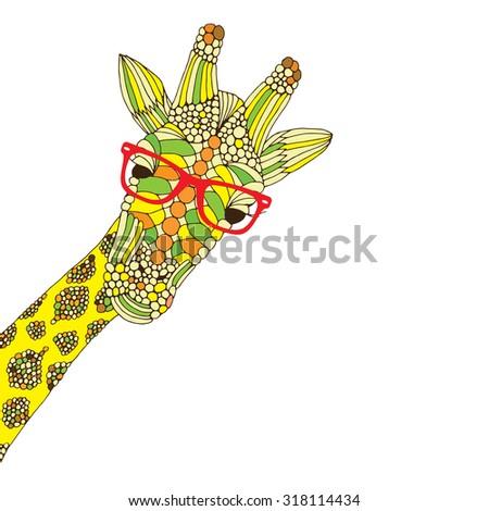 Giraffe illustration - stock vector