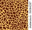 giraffe-shaped monsaic - stock vector