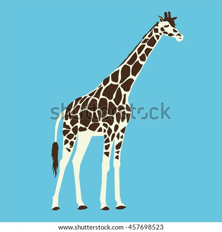 giraffe silhouette - vector illustration