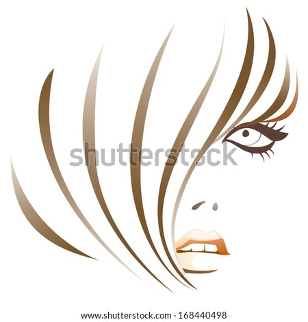 Girl abstract - stock vector