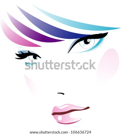 Girl fashion - stock vector