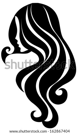 Girl icon - stock vector