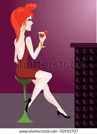 girl in a cocktail bar