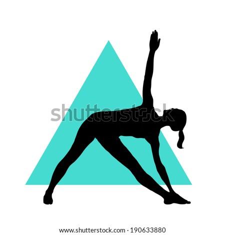 Triangle Pose Silhouette