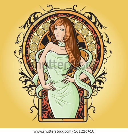 Girl representing Virgo zodiac sign or just a sharp vector graphic for general use. Layered and easy to edit. - stock vector