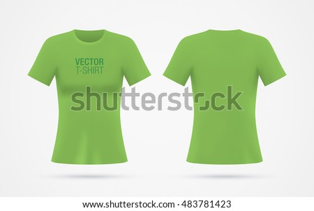 girls green vector tshirt template isolated stock vector 483781423