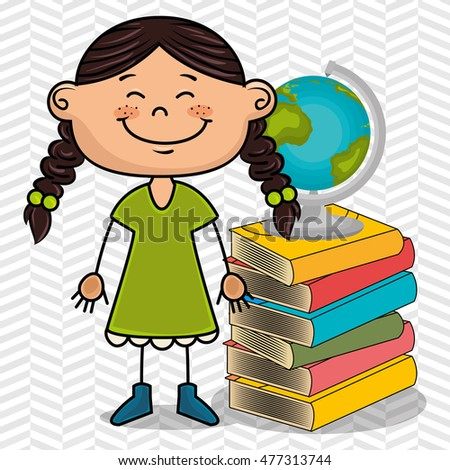 girl student books global