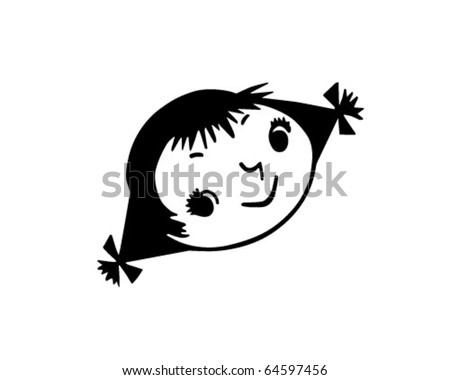 Girl Pigtails Stock Images, Royalty-Free Images & Vectors ...