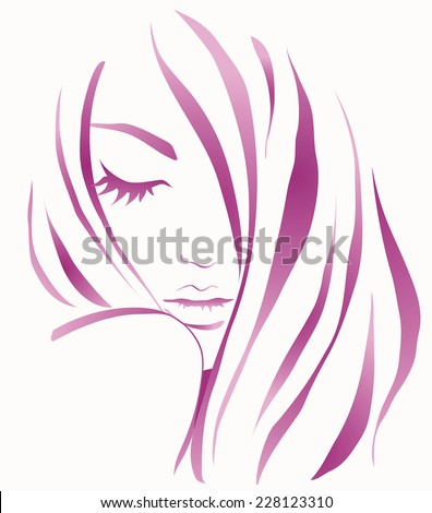 Girl young - stock vector