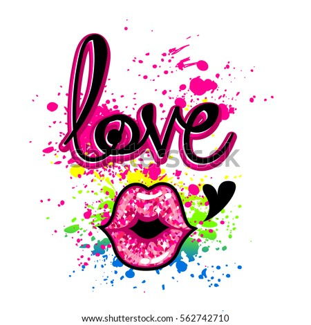 Creative Wallpaper With Original Calligraphic Text Love On White Background