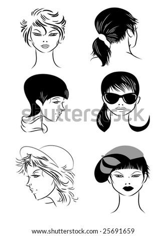 Girls - stock vector