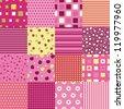 Girls seamless. Set of seamless patterns - stock vector