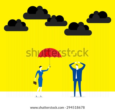 Give a hand - stock vector