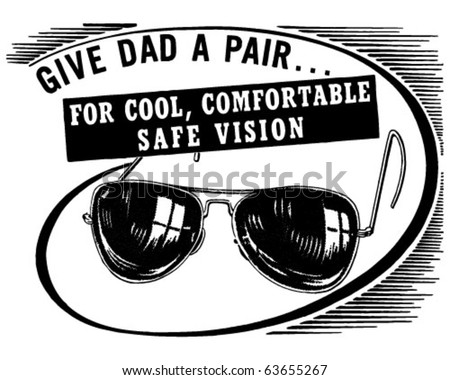 Give Dad A Pair - Retro Clipart Illustration - stock vector
