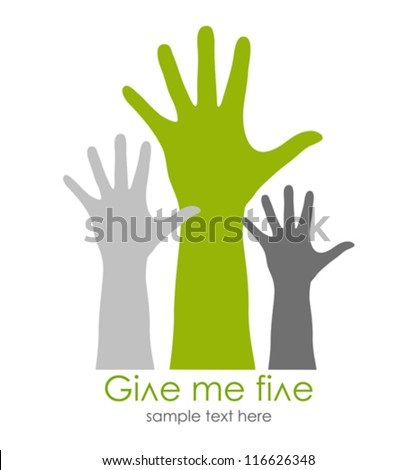 Give me five symbol, vector illustration - stock vector