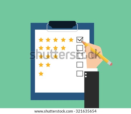 give rating on customer service - stock vector