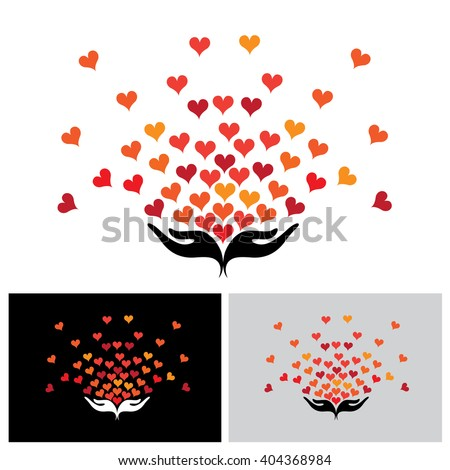 giving love vector icon in eps 10 format - stock vector