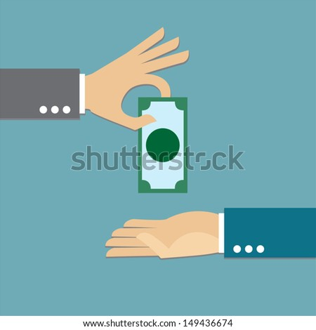 Giving money - stock vector