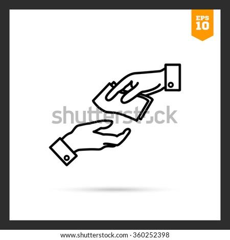 Giving money - stock vector